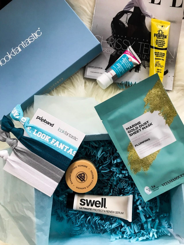 Look fantastic January 2019/ Dr PawPaw/ First Aid Beauty / Swell Hair Serum/ Vitamasques Marine Gold Dust Sheet Mask