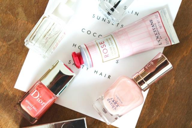 Alles für die Nägel / Dior Springball / L'Occitane Rose / Sally Hansen Rosy Quartz