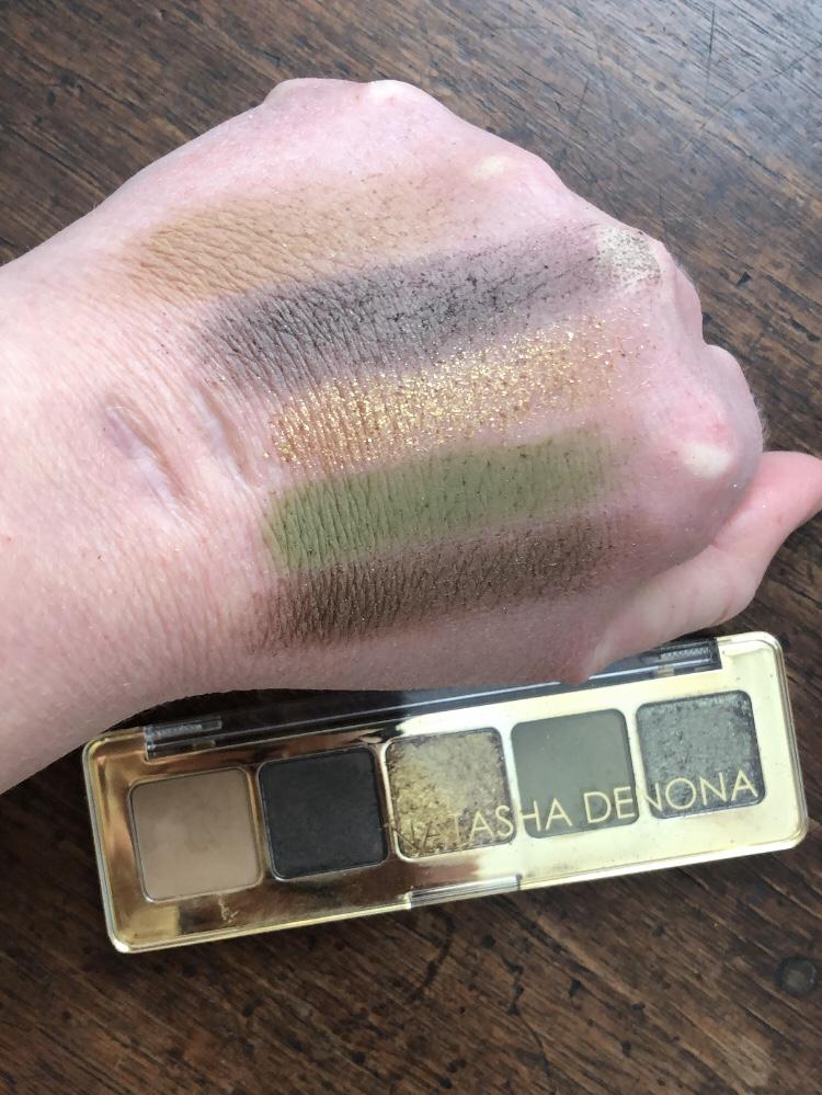 Natasha Denona Mini Gold Palette Swatches