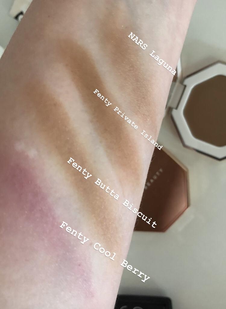 Swatches Fenty Cheeks Out Freestyle Cream Bronze & Blush